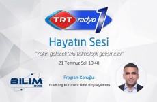 TRT Radyo-1 Hayatın Sesi programı - Ümit Büyükyıldırım