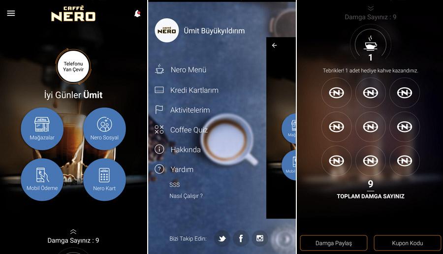 Caffe Nero'nun yenilenen mobil uygulaması