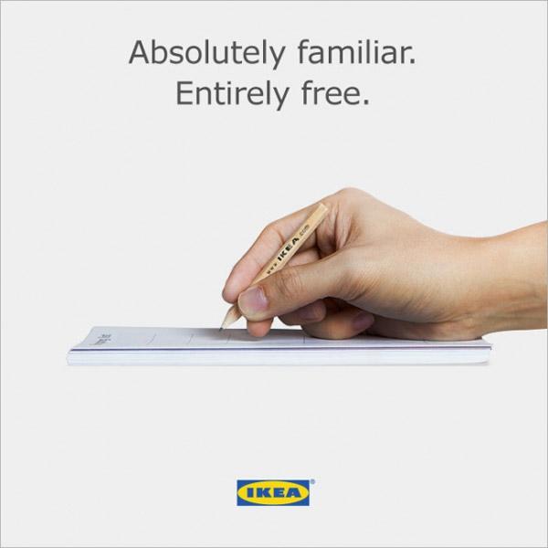 IKEA'nın Apple Pencil reklamına göndermesi
