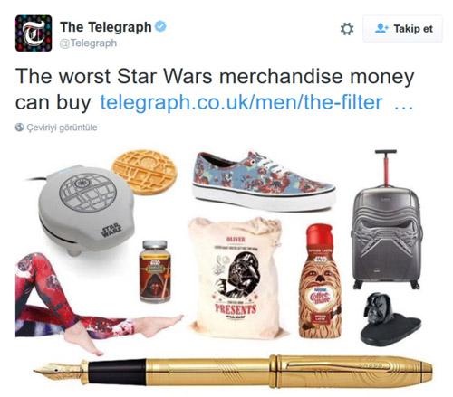 Star Wars lisanslı ürün çılgınlığı